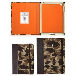 Local menswear brand and retailer <b>Ball and Buck</b> teamed up with <b>DODOcase</b> to make a camo-drenched iPad case—bound like a book with a leather spine, wrapped in 6oz camo canvas, with a bamboo tray, and orange interior. Individually numbere