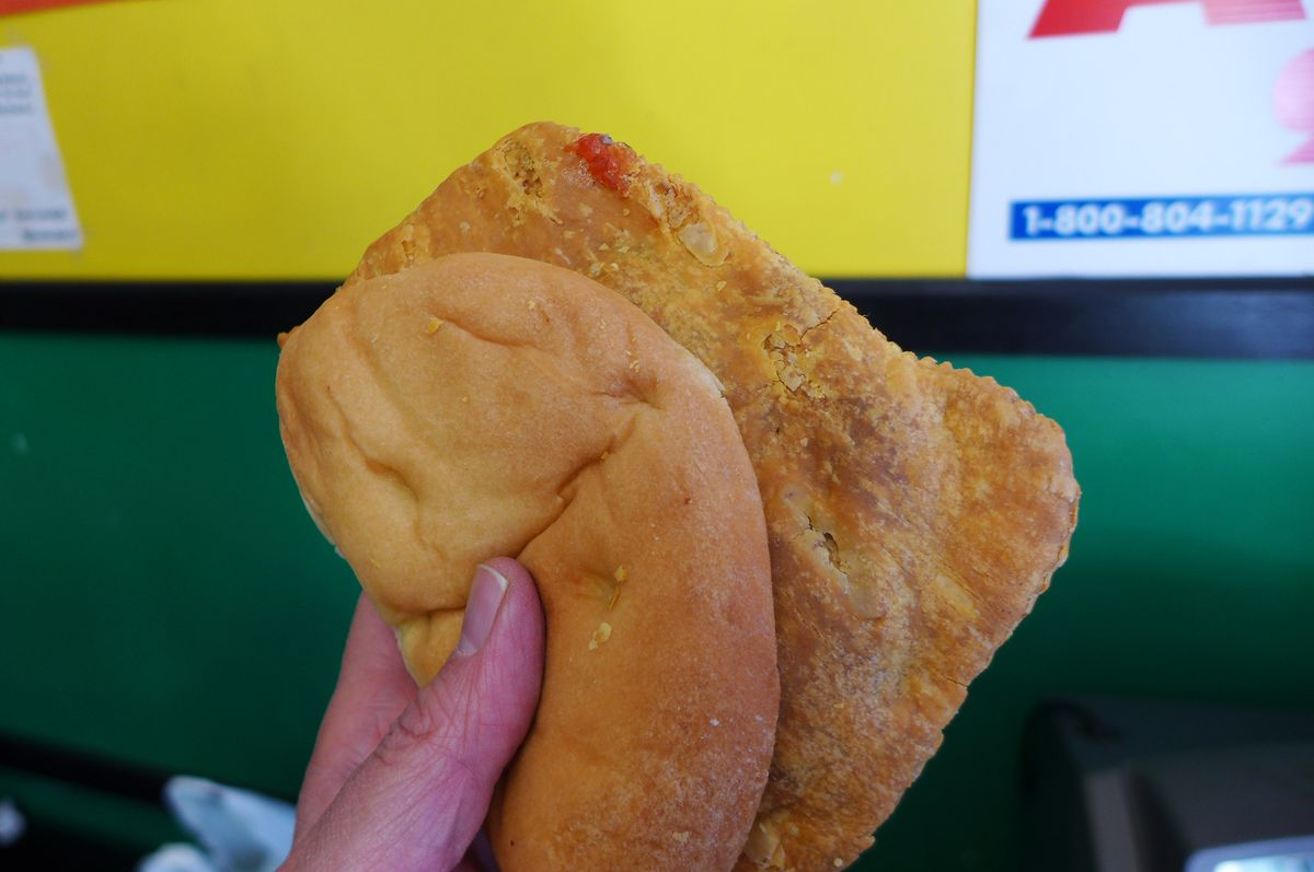 Jamaican beef patty at Jamaican Pride