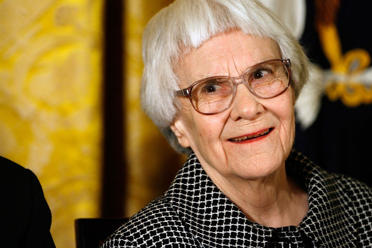 Harper Lee accepting the Presidential Medal of Freedom in 2007.