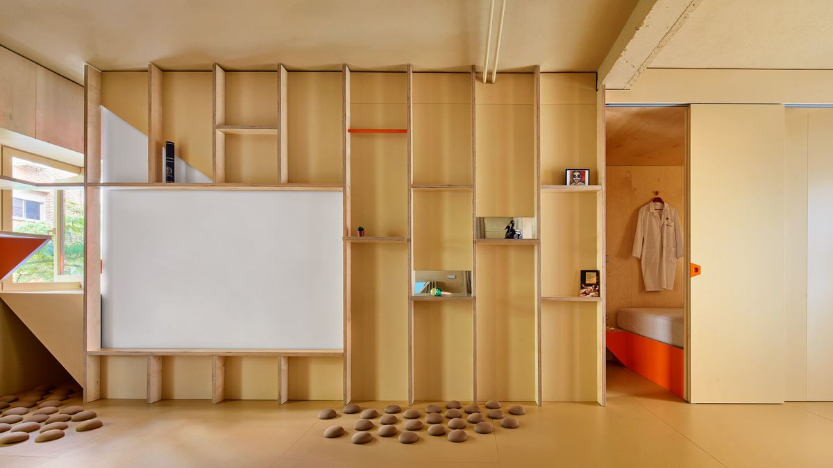Apartment built from plywood