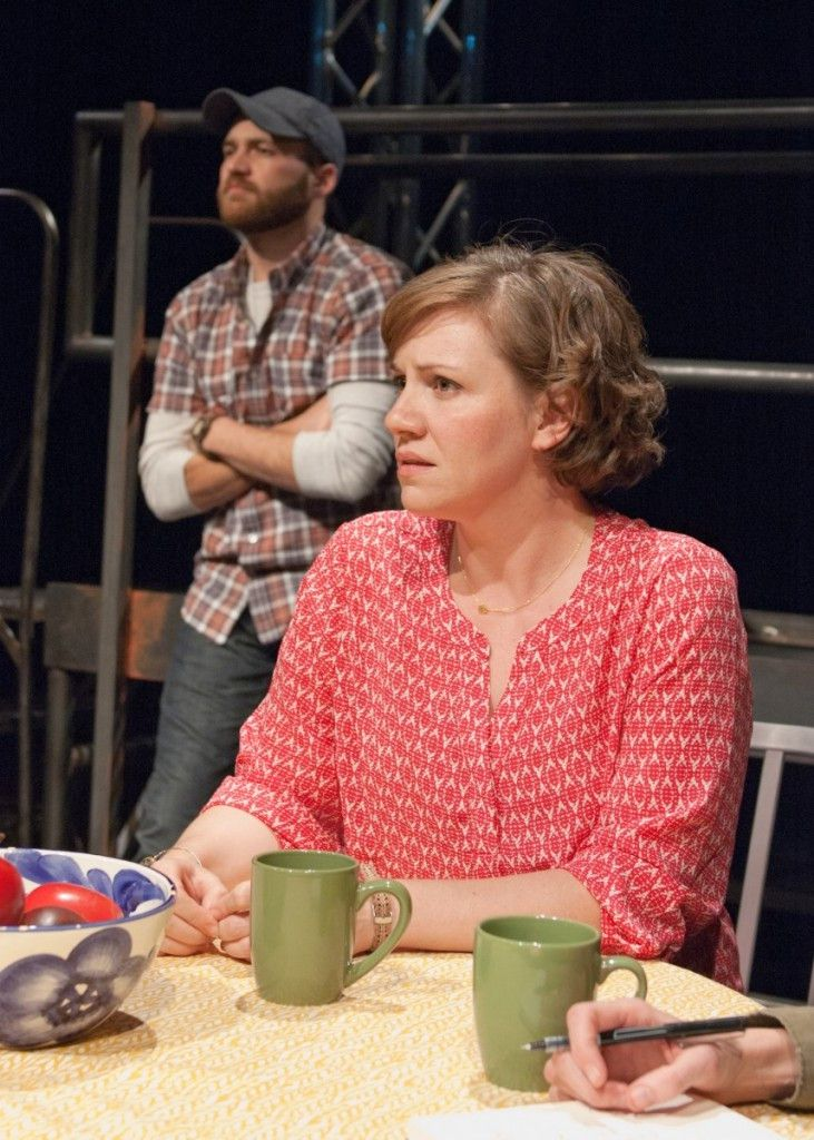"""Chris Rickett and Justine Turner in """"Spill,"""" a TimeLine Theatre production at Stage 773. (Photo: Lara Goetsch)"""