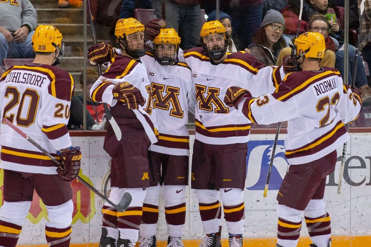 Minnesota Hockey Gophers And North Dakota Renew Rivalry In Las