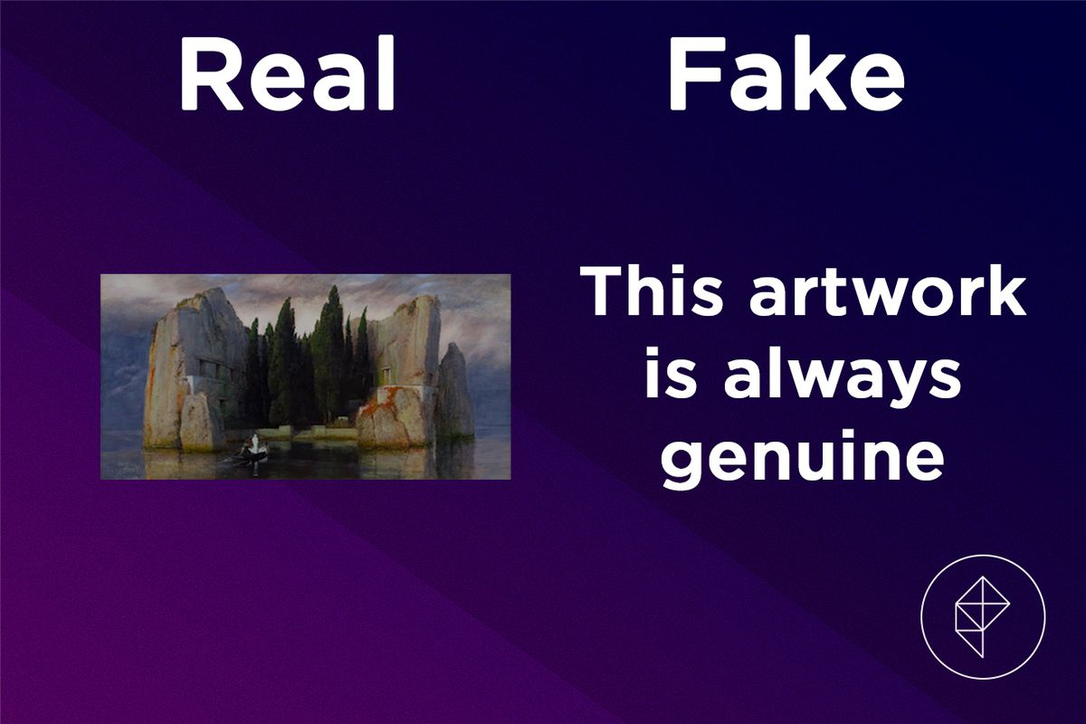Confirmation that the Mysterious Painting is always real