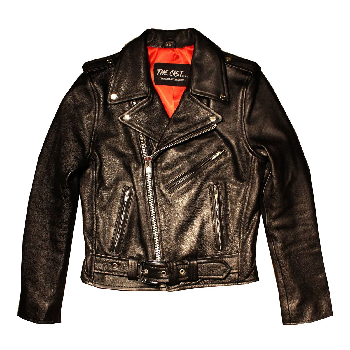 a classic leather jacket