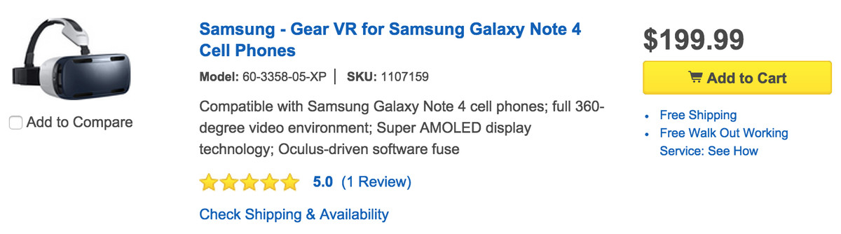 Gear VR Best Buy