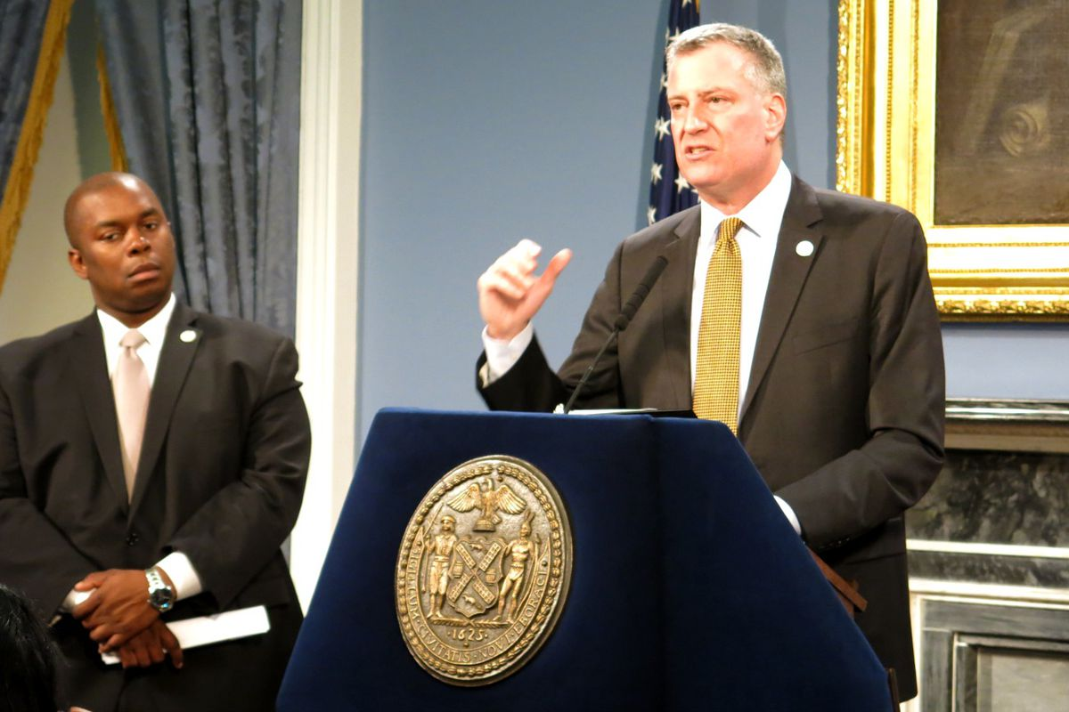 Mayor Bill de Blasio offered new details about his after-school expansion plan, along with Richard Buery, a deputy mayor charged with overseeing the mayor's prekindergarten and after-school initiatives.