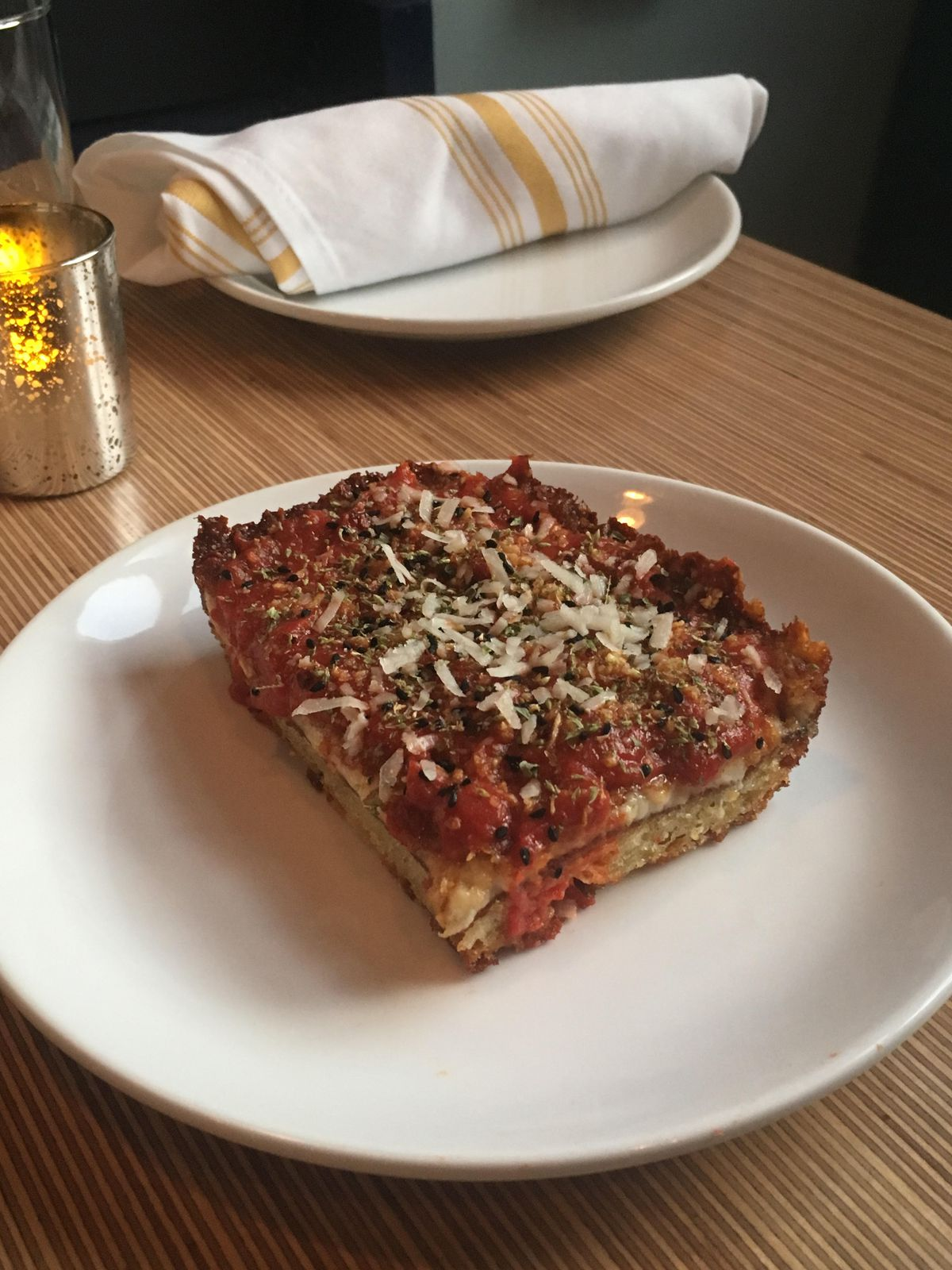 Detroit-style pizza at Tapestry