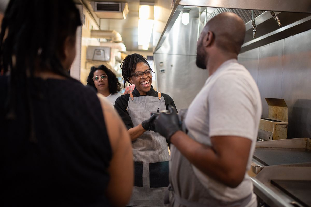 Dream cafe in detroit aims to create a blueprint for a more legenevieve squires and her business partner brittiany peeler far back will collaborate with simple goodness detroit on friday at the dream cafe malvernweather Gallery