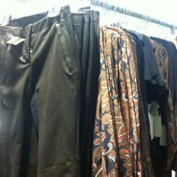 Leather trousers, $200