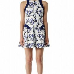 """""""For a fresh pop of color, newcomer <a href=""""http://www.icbnyc.com/ """">ICB's</a> Emulsion Print dress ($425) effortlessly toes the line between whimsical and chic."""""""
