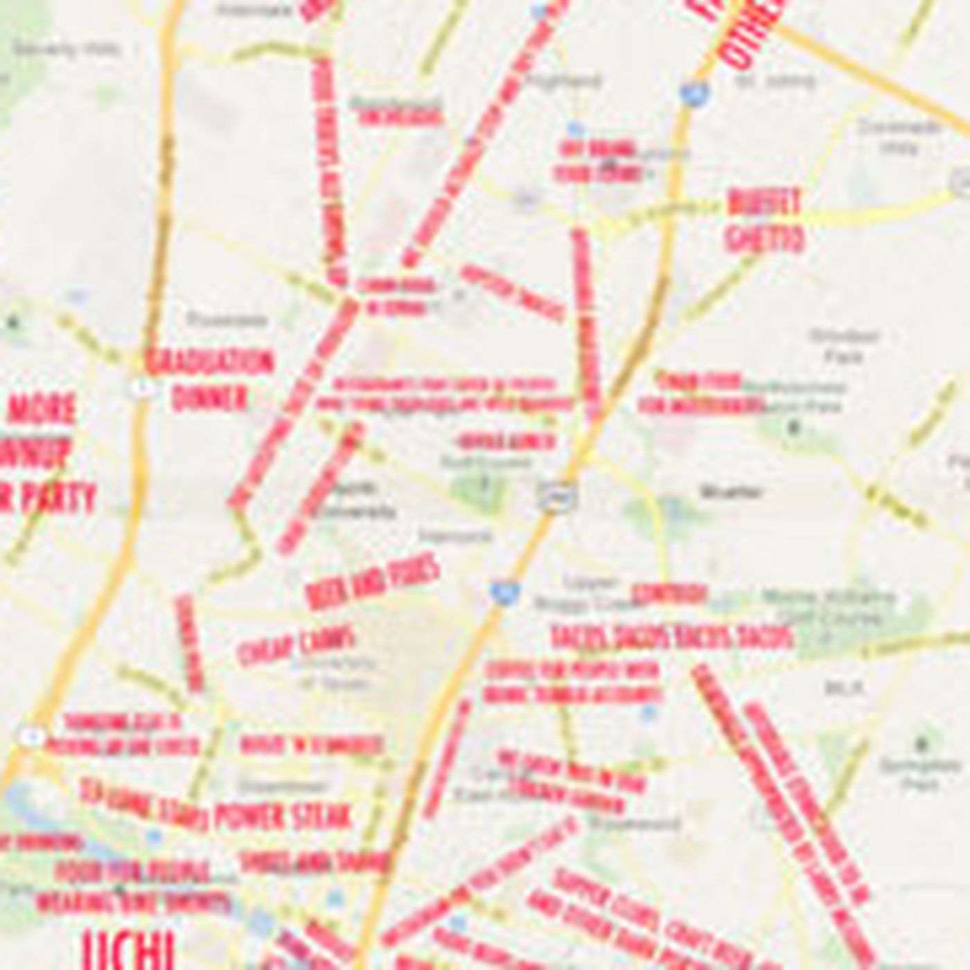 Austin Judgemental Map | Helderateliers