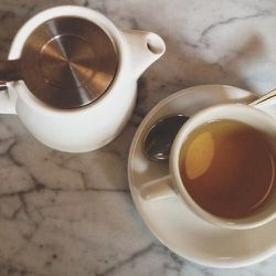 Morning tea at Reynard at Wythe Hotel with my friend visiting from Portland, Maine and her 11 month old baby. I wanted another coffee but chose a Mt. Olympus flower tea instead. I've never tasted that herb before but it was delicious.