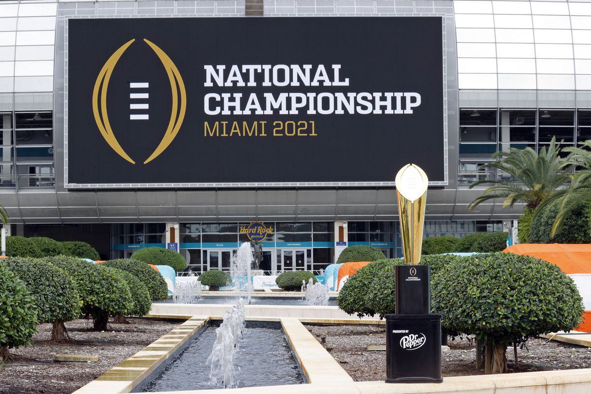 The College Football Playoff National Championship Trophy Tours South Florida