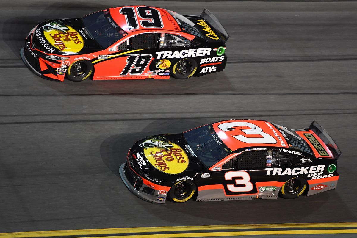 NASCAR Cup Series driver Austin Dillon and driver Martin Truex Jr. during the Bluegreen Vacations Duels At DAYTONA at Daytona International Speedway.