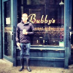 """This picture shows how high the water rose above Bubby's in Dumbo, via I<a href=""""http://instagram.com/p/RaGDnSydkI/"""">nstagram/ClaireMazur</a>."""