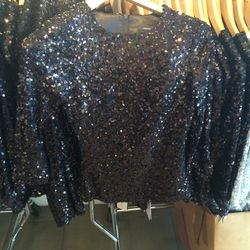Sequined top, size 2, $20 (was $188)