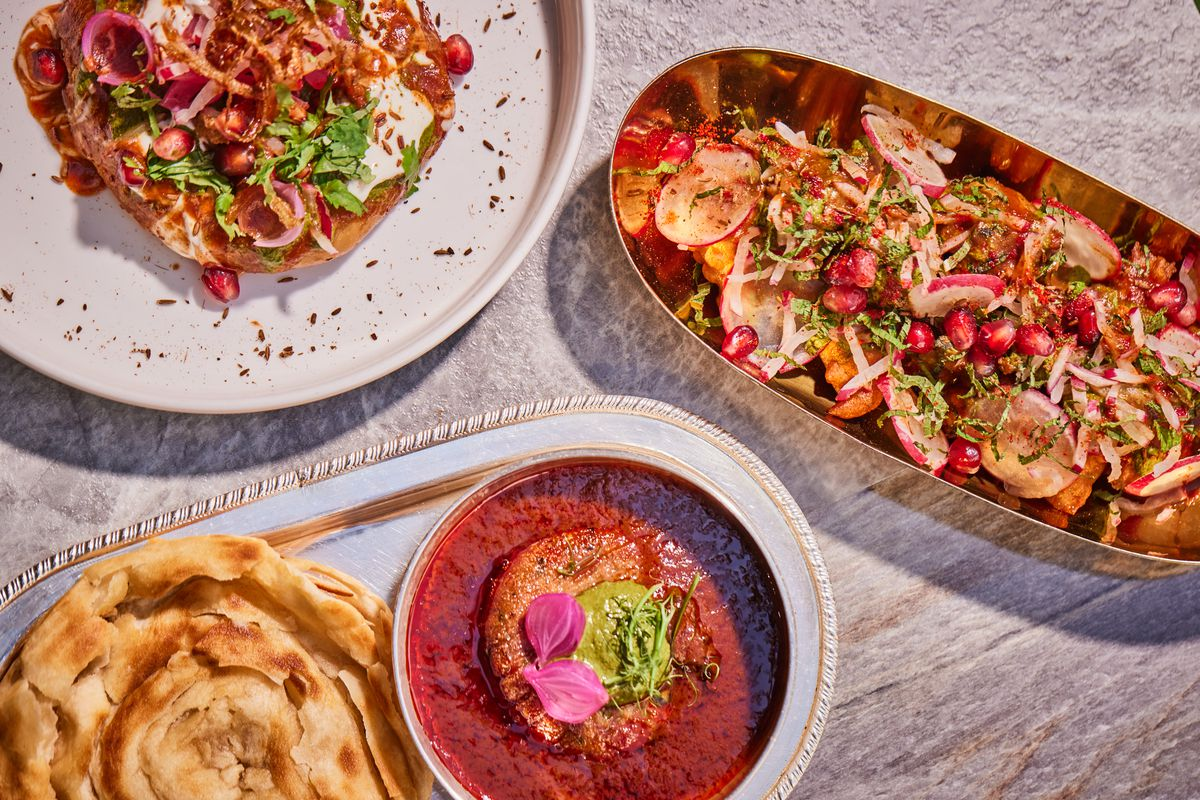 Dishes from Manthan, a new restaurant in Mayfair, by chef Rohit Ghai