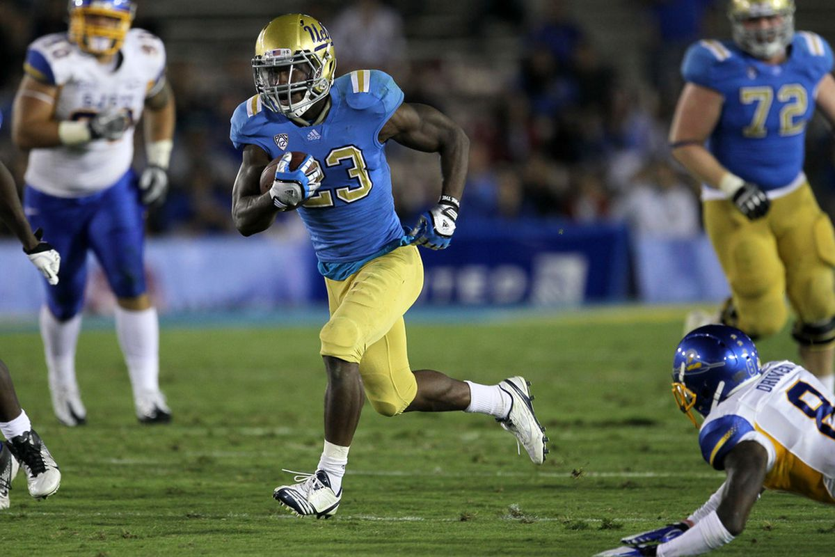 Jet Ski leads a very potent stable of Bruin running backs (Photo by Stephen Dunn/Getty Images)