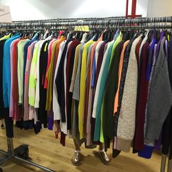 Cashmere sweaters, $90