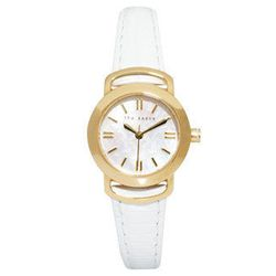 """<b>Ted Baker</b> round face white leather strap watch, $84.78 at <a href=""""http://us.asos.com/countryid/2/Ted-Baker-Round-Face-White-Leather-Strap-Watch/zlyku/?iid=2770377&MID=35719&affid=2135&WT.tsrc=Affiliate&siteID=Hy3bqNL2jtQ-rtVMtP_yzjjZk9CrAHRBvw"""">AS"""