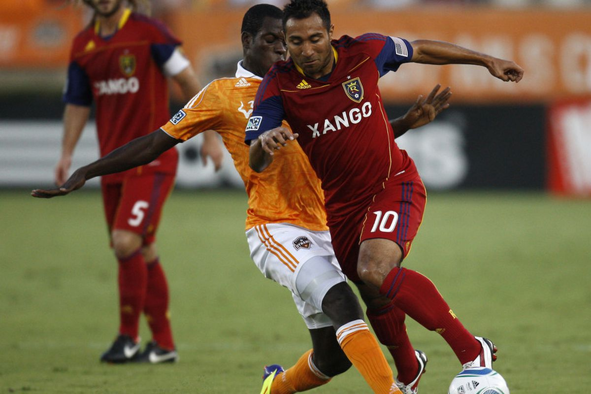 HOUSTON, TX - AUGUST 20: Alvarez selected by Chivas USA today in the re-entry draft (Photo by Eric Christian Smith/Getty Images)