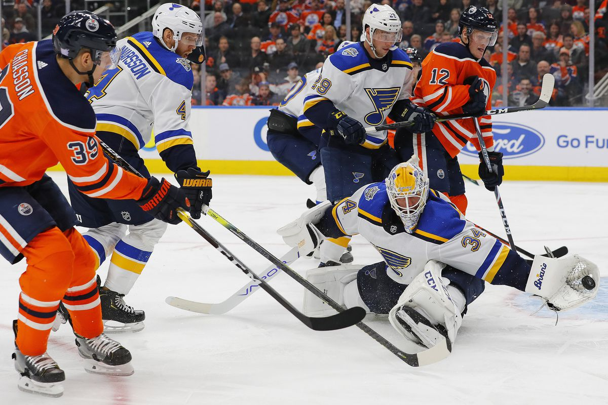 NHL: St. Louis Blues at Edmonton Oilers