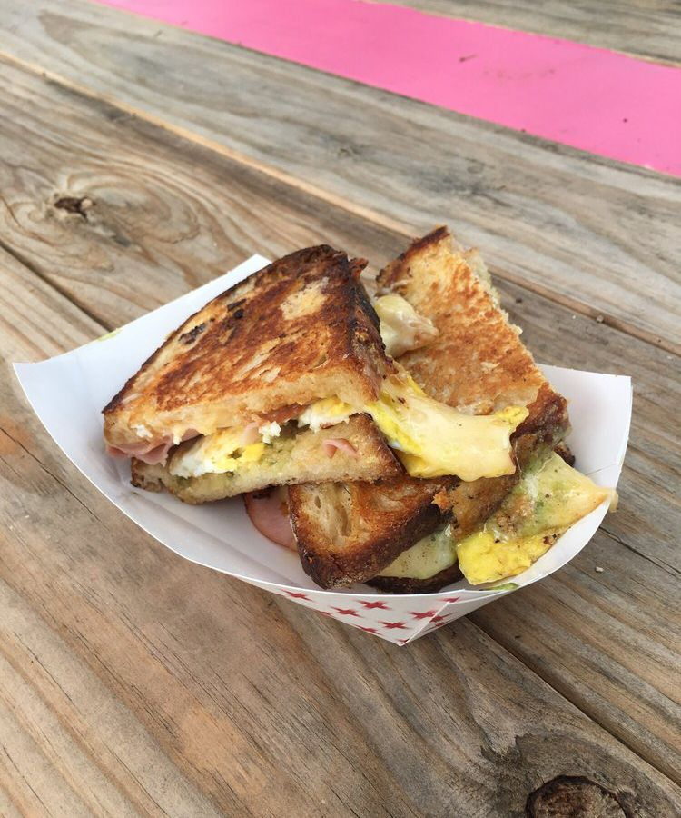 A grilled cheese sandwich from Burro