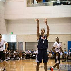 Michael Carter-Williams shoots a free throw
