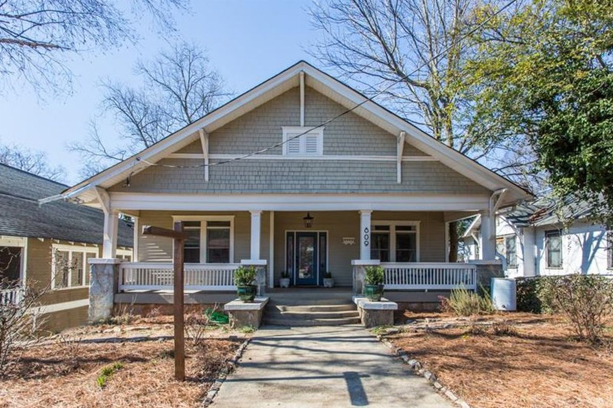 A bungalow for sale in the Ormewood Park neighborhood of Atlanta.