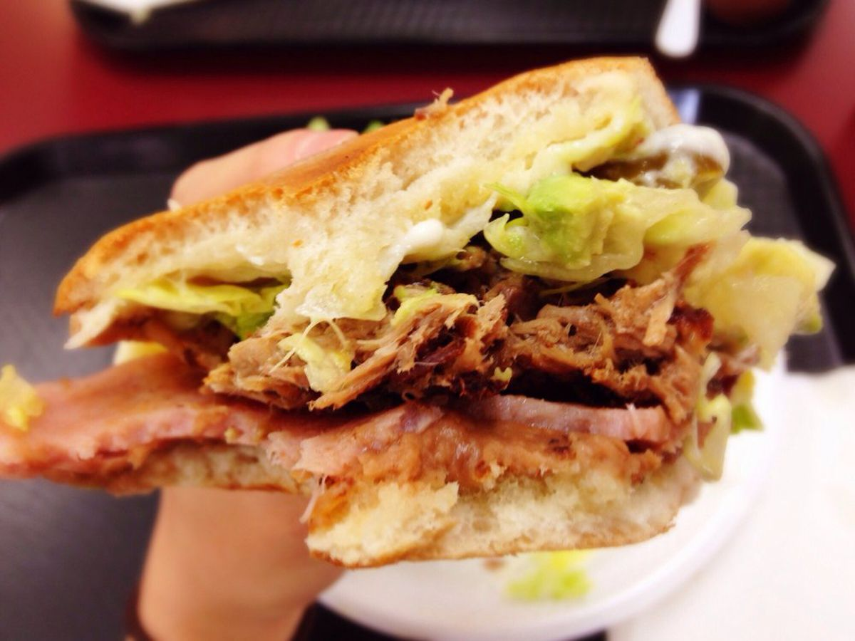 Take a bite out of a torta at La Mexicana in Alexandria