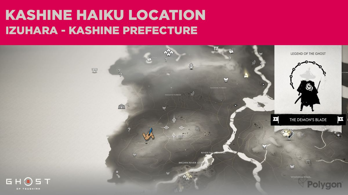 The Kashine haiku location in Ghost of Tsushima