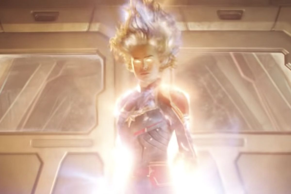 """Marvel Studios dropped a new trailer for """"Captain Marvel"""" on Monday during halftime of """"Monday Night Football."""""""