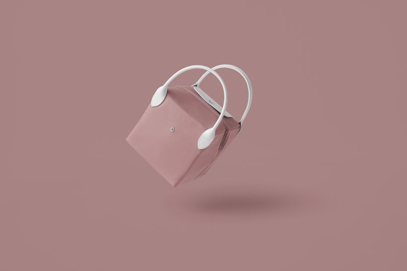 Pink bag on pink background