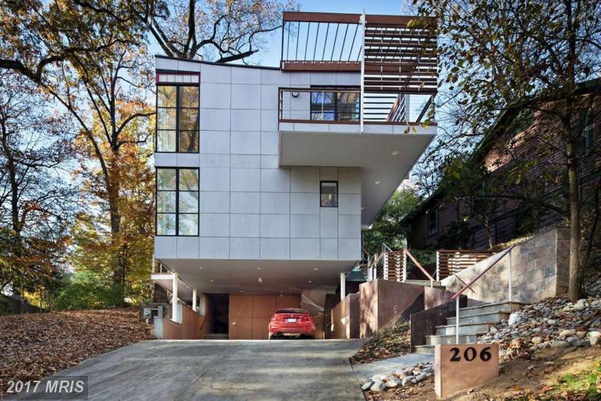 Modern boxy home in takoma park is super swanky on the inside curbed dc Home furniture and more langley park md