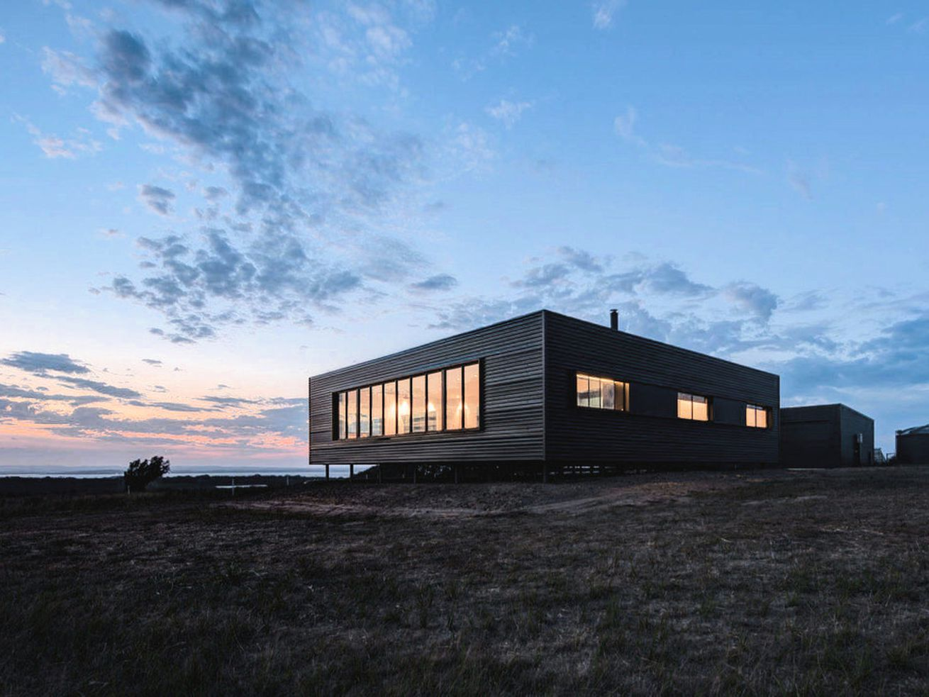 """The 2,000-square-foot home on Australia's French Island was constructed by<a href=""""http://ecoliv.com.au/"""">Ecoliv</a>and designed by architect<a href=""""http://www.laicheongbrown.com/"""">Lai Cheong Brown</a>."""