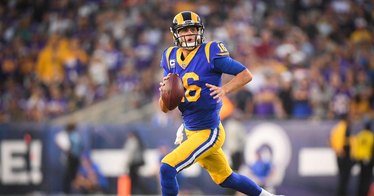 Vikings Vs Results Rams 2018 Jared Goff Plays A Big Role In