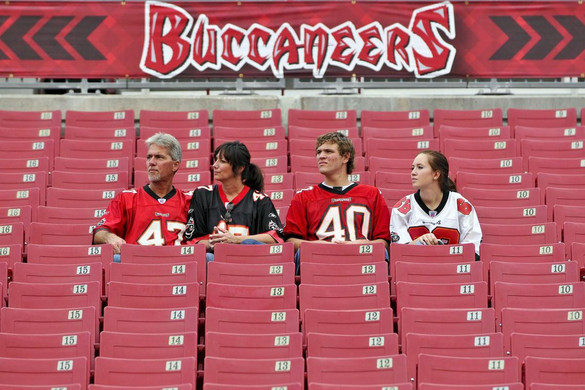 Sep 4, 2009; Tampa, FL, USA; Tampa Bay Buccaneers fans before the game against the Houston Texans at Raymond James Stadium. Mandatory Credit: Fernando Medina-US PRESSWIRE 9/4/2009 6:06:07 PM