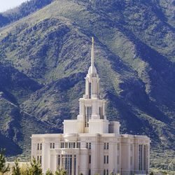 The Payson Utah Temple in Payson  Sunday, June 7, 2015.