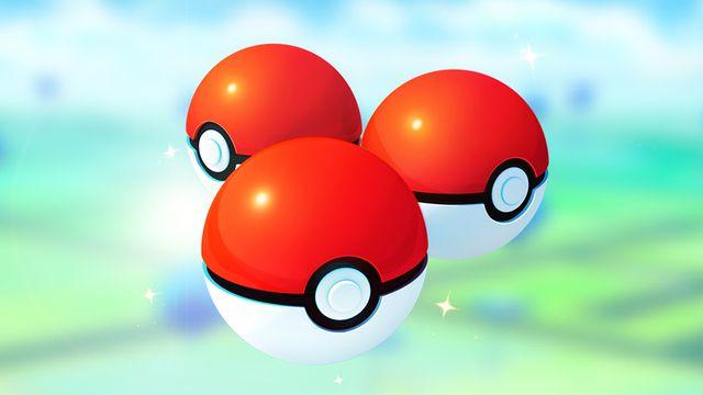 Artwork of three Poké Balls from Pokémon Go