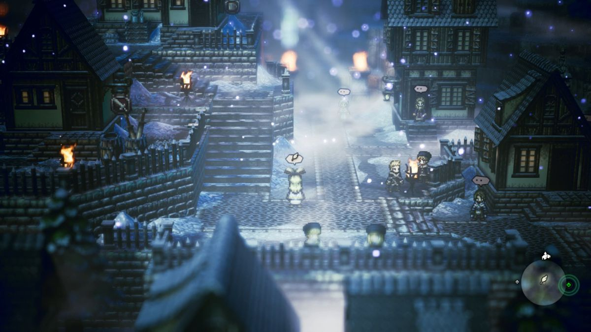 Saving at the quill pen in Octopath Traveler