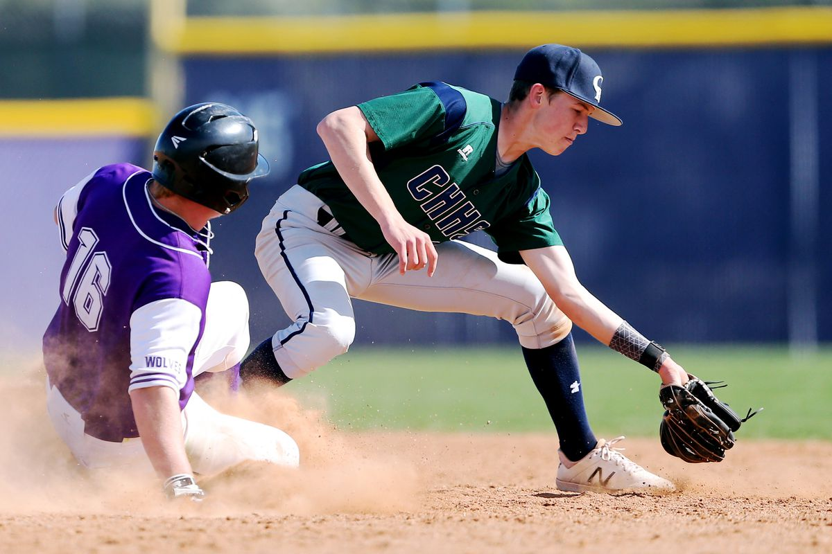 Riverton and Copper Hills play a high school baseball game in Riverton on Wednesday, April 24, 2019. Copper Hills won 14-11.