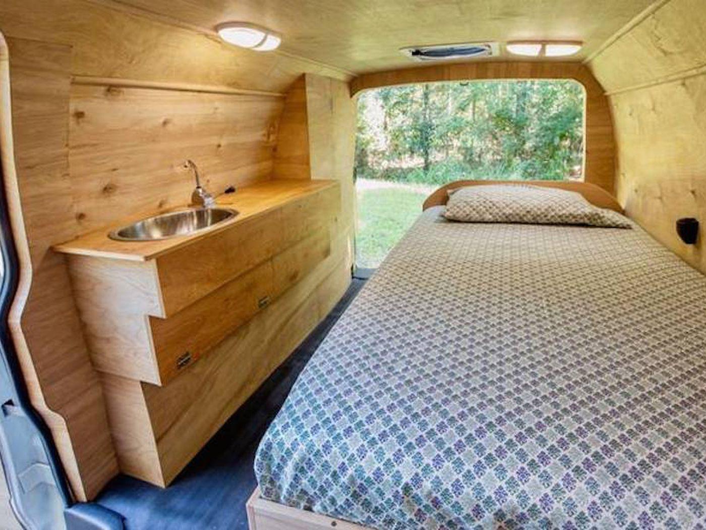Eco Friendly Converted Van Home Is Full Of Hidden Features