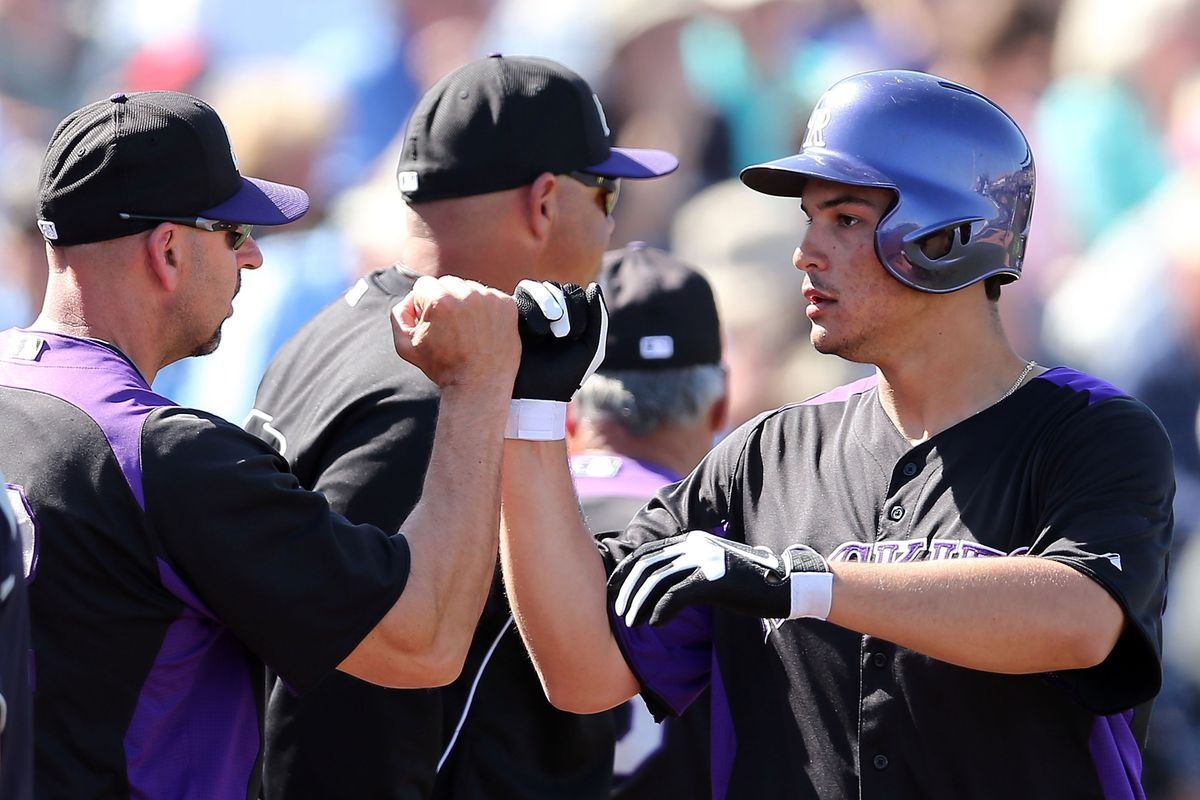 Rockies third baseman Nolan Arenado was again a bright spot for the club, as he homered in his third straight spring training game, a 16-6 loss to the Seattle Mariners.