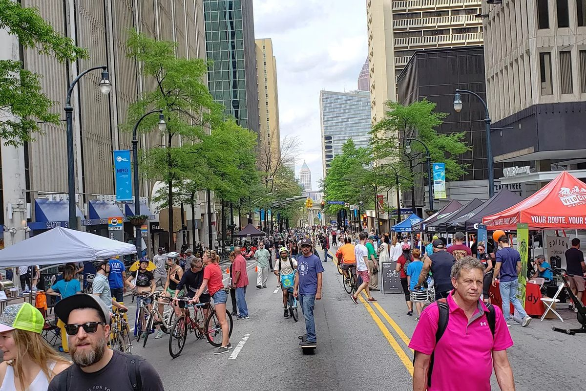 a picture of the latest streets alive event