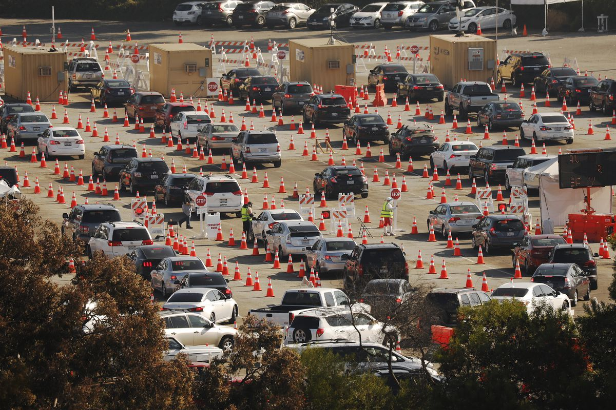 The Dodger Stadium COVID-19 testing site, which is the largest in the U.S., will reopen today after a weekend closure for restructuring to alleviate traffic in the area. The site has administered 1 million COVID-19 tests since May, according to Mayor Eric