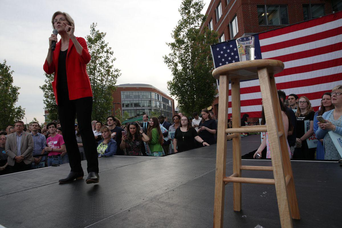 Presidential Candidate Sen. Elizabeth Warren Holds A Town Hall In Northern Virginia