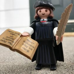 """Playmobil toy company has created a special """"Little Luther"""" to celebrate the 500th Anniversary of the Reformation."""