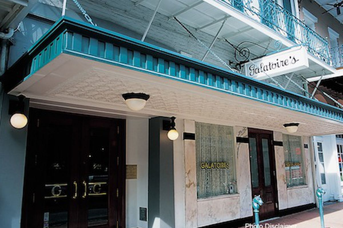 Exterior of Galatoire's in the French Quarter.