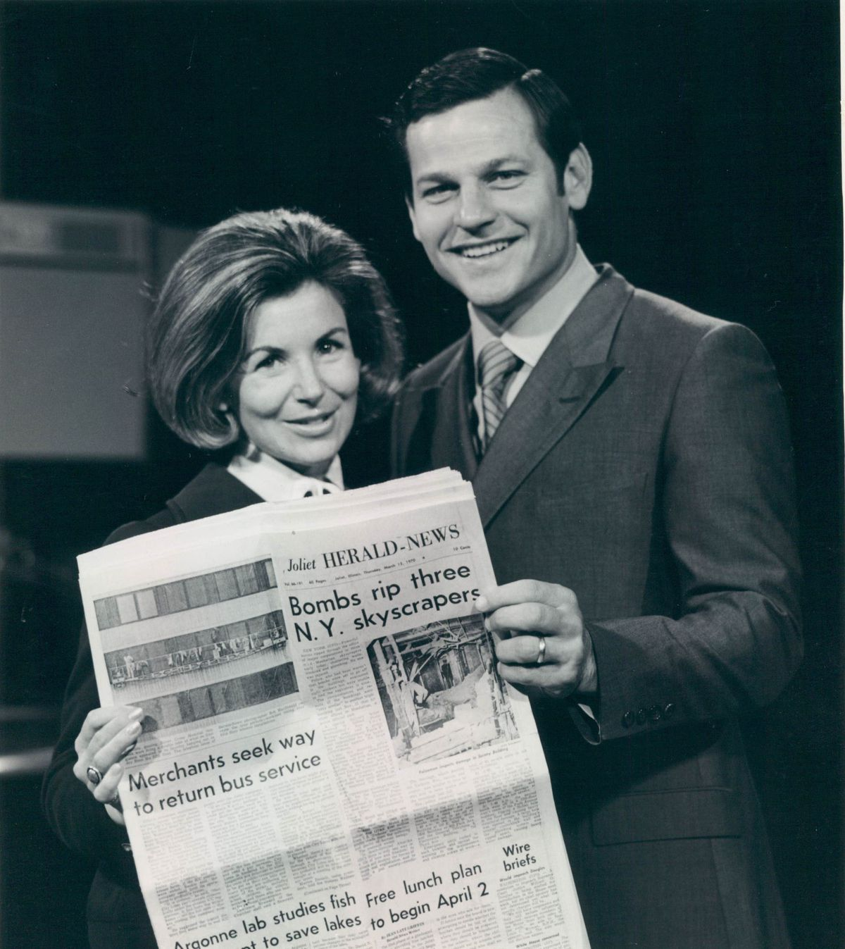 Jeannie Morris and Johnny Morris.