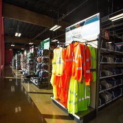 Reflective gear for road workers or bicyclists.